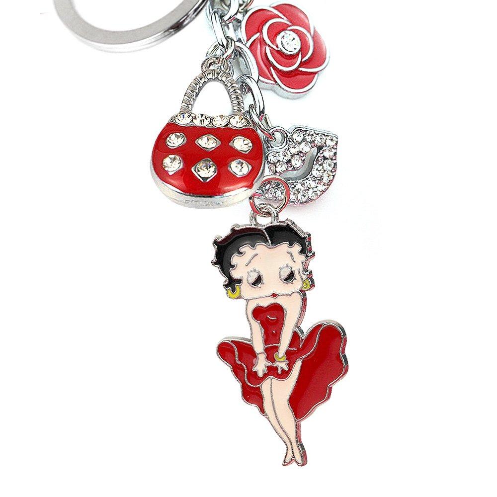 Amazon.com: New Cute Rojo Betty Boop Rosa Bolso beso Lip ...