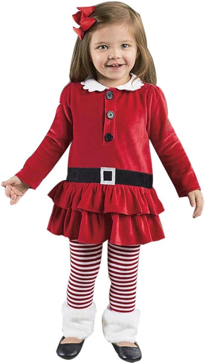 1-6 años Niña de Navidad Disfraz Ropa Arriba Tops + Pantalones ...
