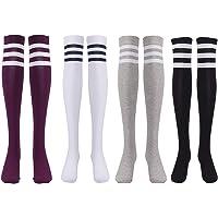 EZSTAX Medias de Rodilla para Mujer para Invierno Cálido Medias de Algodón Retro Calcetines Largos Overknee Calcetines…