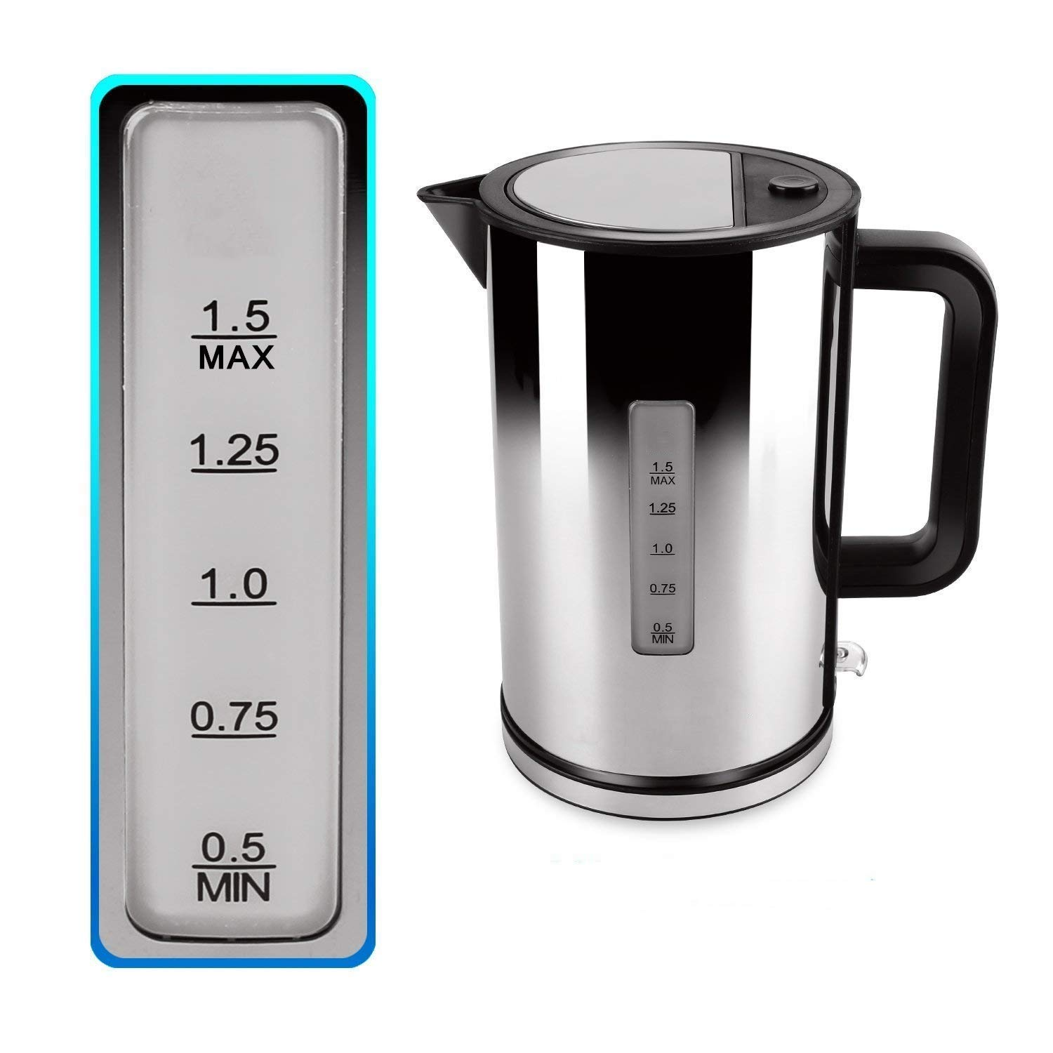 French Press Coffee Tea Maker Coffee Press Pot 304 Grade Stainless Steel Heat-Resistant Durable Long-Lasting Better Filtering (1 liter, 34 oz) 1000ml