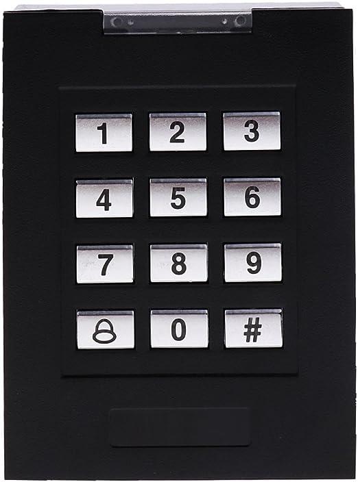 Teclado de Contraseña Impermeable Soporte 1000 Usuarios de Código PIN Estándar Teclado RFID