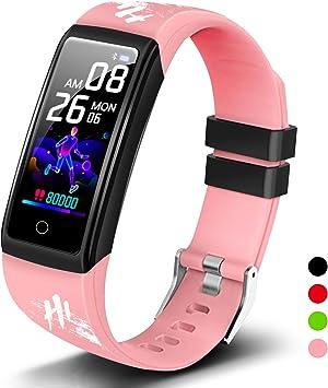 YAMAY Montre Connect/ée Homme Femme Enfant Smartwatch pour Huawei Samsung Xiaomi iPhone Android Telephone Montre Intelligente Tactile Vibrante Sport Podometre Fitness Tracker Cardio Etanche Chronometre