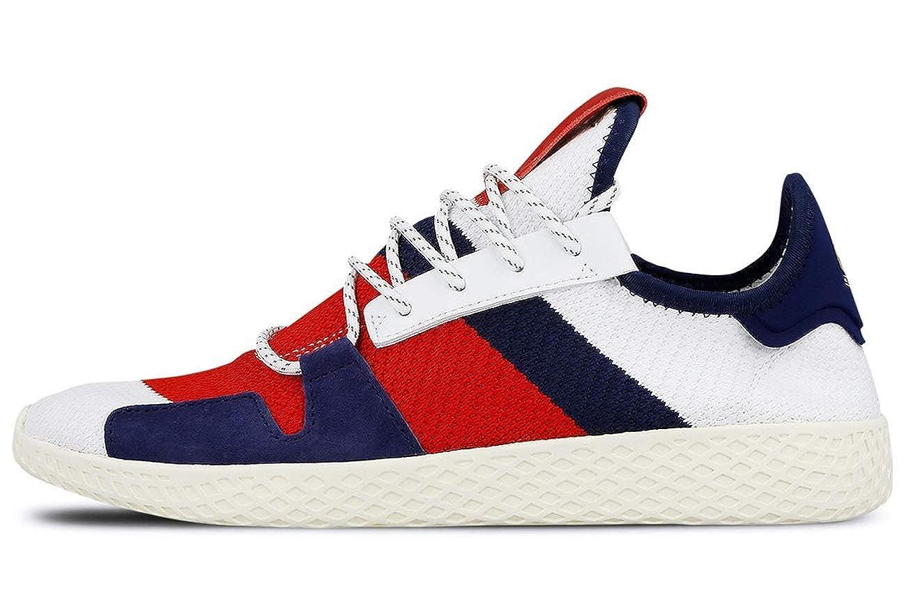 sports shoes 4a4f2 51fa0 Amazon.com   adidas Men s BBC HU V2 Cloud White Scarlet Blue BB9549    Fashion Sneakers