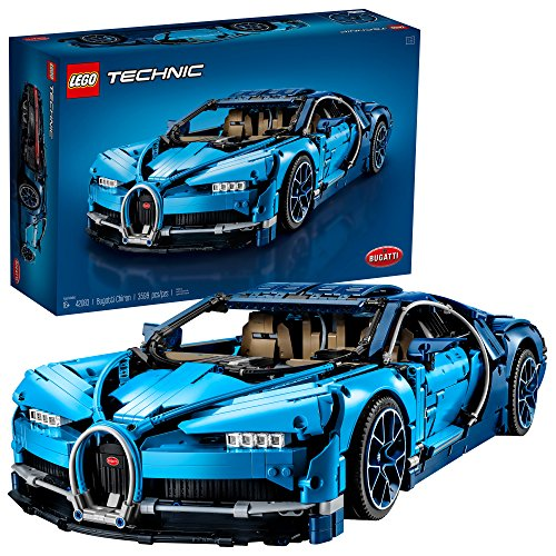 LEGO Technic Bugatti Chiron 42083 Race Car Building Kit and Engineering Toy, Adult Collectible Sports Car with Scale Model Engine (3599 Piece) ()