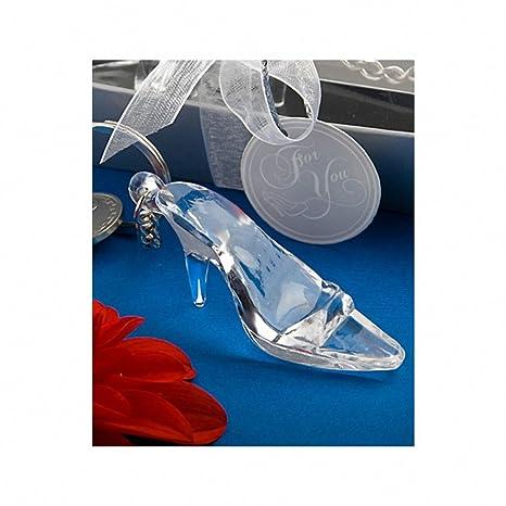 Zapato de Cenicienta/cristal llavero de recuerdo: Amazon.es ...