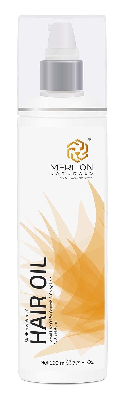 MERLION NATURALS Herbal Hair Oil with 12 Essential Herbs Like Bhringraj , Amla , Brahmi , 200 ml