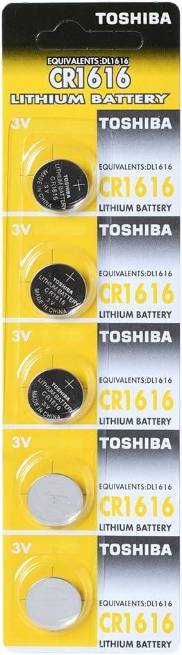Toshiba Cr1616 3 V Lithium Akku 1 Pack 5 X Batterien Made In Japan Baumarkt