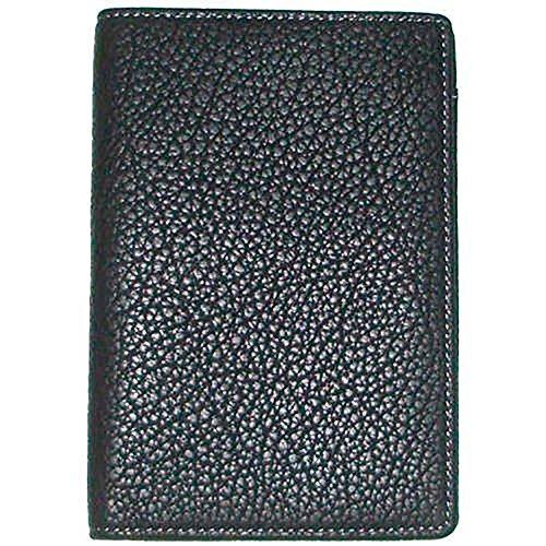 Boconi [Custom Initials Embossing] Tyler Tumbled RFID Passport Case in Black w/ Plaid (Passport Case Currency Multi)