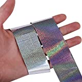 unplugged hair dryer - 1 roll of Laser Holo Holographic Nail Foils Nail Art Transfer Sticker DIY (Silver 2)