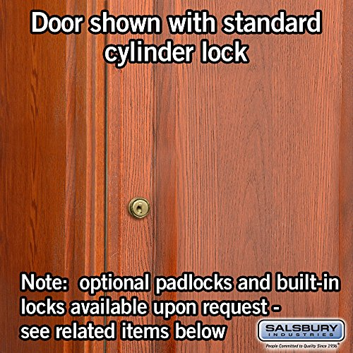 Salsbury Industries 2-Tier Solid Oak Executive Wood Locker with Three Wide Storage Units, 6-Feet High by 21-Inch Deep, Medium Oak by Salsbury Industries (Image #5)