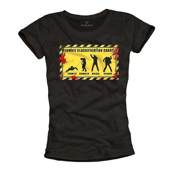 Camisetas Zombies Evolution - Mujer