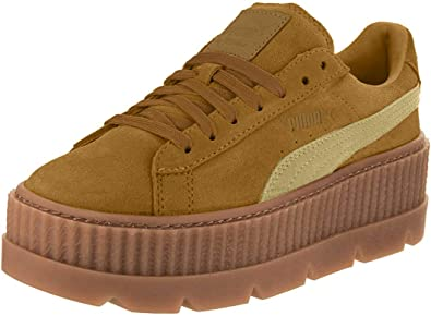 Sofocante Alexander Graham Bell imperdonable  Amazon.com | PUMA Womens Fenty by Rihanna Suede Cleated Creeper Sneakers  Shoes Casual - Brown | Shoes