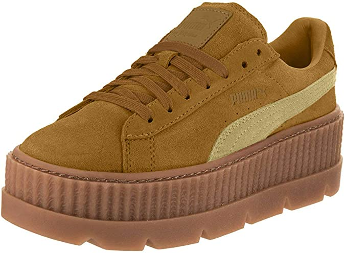 candidato radical maldición  Amazon.com | PUMA Womens Fenty by Rihanna Suede Cleated Creeper Sneakers  Shoes Casual - Brown | Shoes
