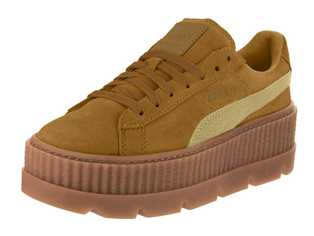 PUMA Womens Fenty by Rihanna Suede Cleated Creeper Casual Sneakers,