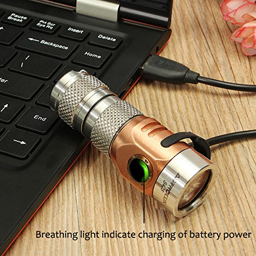 Stainless Steel 2023LM Rechargeable Mini LED Flashlight (Design CREE XP-G3)