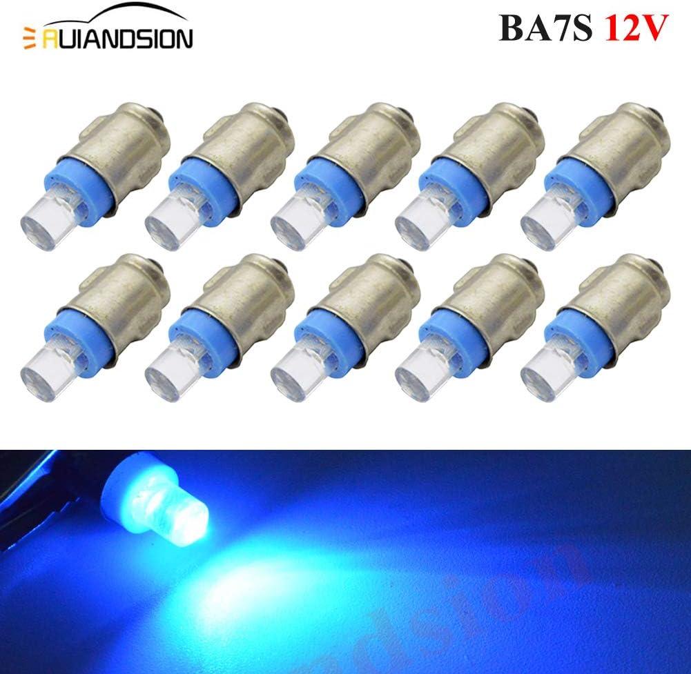 2 bombillas BA7S para salpicadero F3 1 LED 12 V CC 50 lm tierra negativa. indicador panel de instrumentos de luz para l/ámpara luz blanca LED para interior de salpicadero