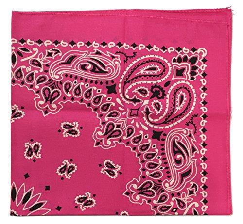 Hot Paisley Bandana Pink Made (USA Made Military Army Trainmen Paisley 22 (Hot Pink))
