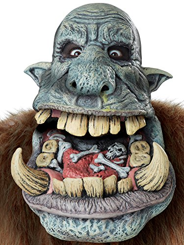 California Costumes Battle Troll Big Mouth Mask-Standard (Wig Halloween Costume Mask)