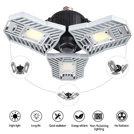 45 Adust Garage Light 45W,E26 led Garage Ceiling Lights,4500lm,Workshop Light,Garage led Bulbs,Super Bright led Bulbs Light