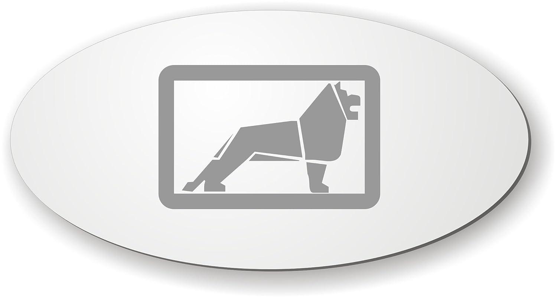 Schilderfeuerwehr Spiegel mit Logo Aufkleber