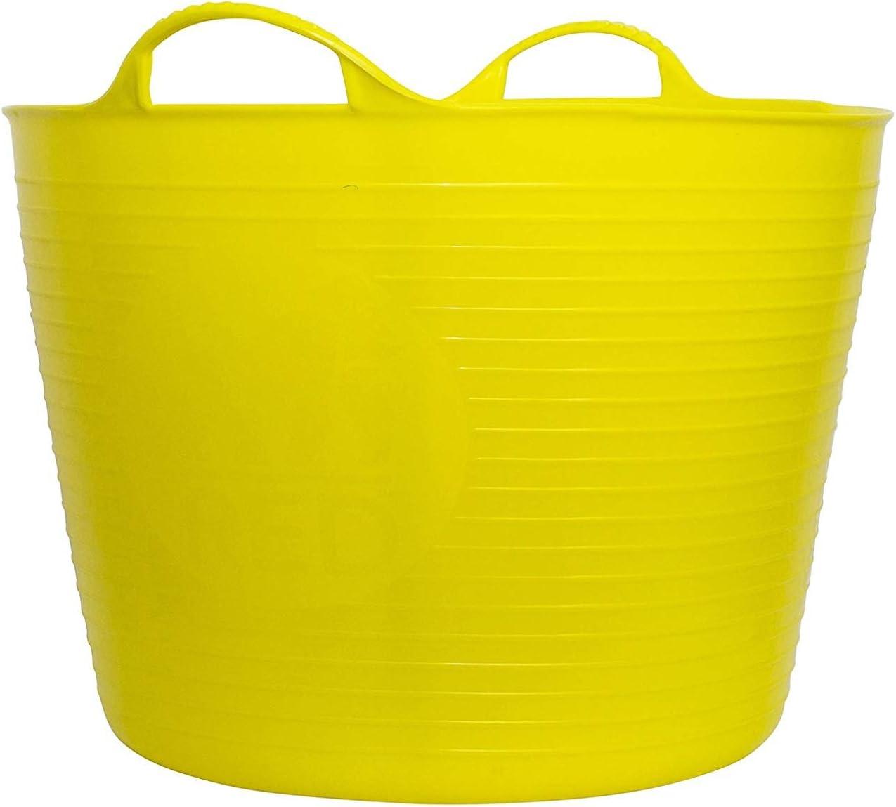 FAITHFULL FAIFLEX42Y Heavy-Duty Polyethylene Flex Tub 42 Litres Yellow 3