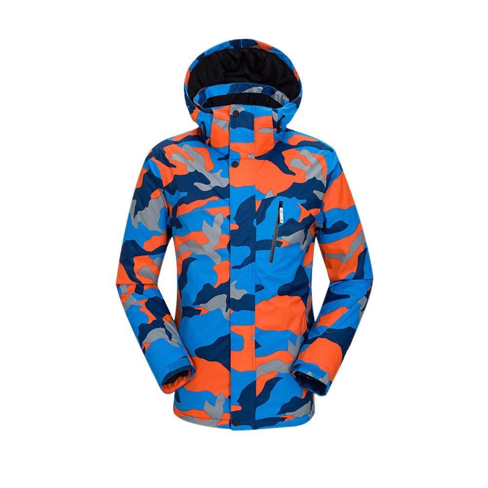 Camo Bleu Tag XL= EU US UK AUS MEX L Deylaying Veste de Ski Homme - Manteau Hiver Chaud avec Capuche, Coupe-Vent Imperméable Combinaison de Snowboard