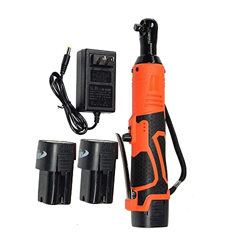 EXCELLENT SHOPPING 3 8 18V 60N.m Electric Ratchet Wrench Tool Set Cordless With Charger Kit 2 Battery