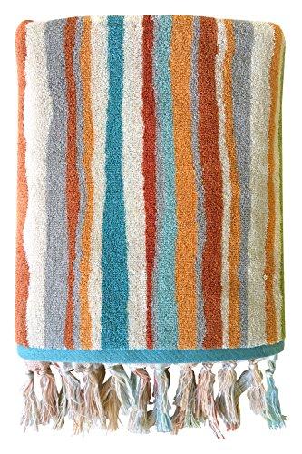 Dena Kaiya Trellis Stripe Bath Towel (Bath Towel Trellis)