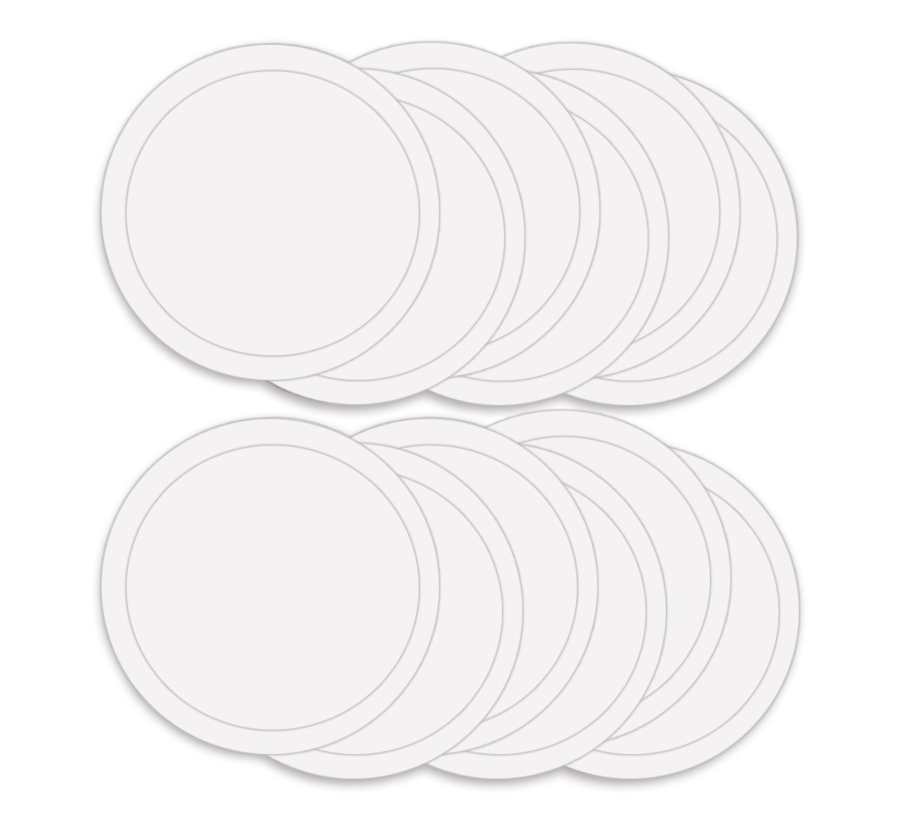 ABN Paint Mixing Cup Lids, 12 Pack – Clear Plastic 32oz Ounce (1qt Quart) Lids