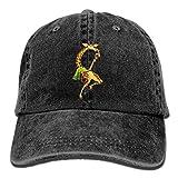 Hat Giraffe Eat Ice Cream Denim Skull Cap Cowboy Cowgirl Sport Hats For Men Women