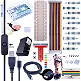 For Raspberry Pi 3 Kuman Complete Starter Kit with 2.5A Power Supply, Breadboard,T-type GPIO Board, 40 Pin Ribbon Cables, HDMI Cable, Jumper Wires, RPi 3 Case and Heatsink (26 items) K74