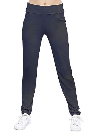 a155ff2a22f9 Rendez Vous Paris Pantalon coupe fluide taille élastique avec poches en maille  modal JOELLE