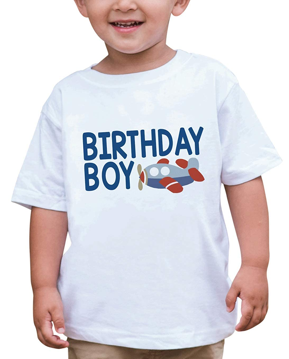 7 ate 9 Apparel Boys Birthday Boy Airplane T-Shirt