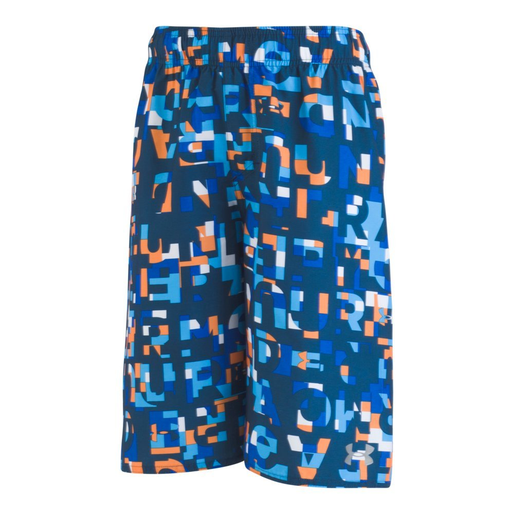 Under Armour Toddler Boys' Swim Shorts, Multi Blue Academy, 2T