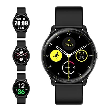 Evershop Smart Watch with Heart Rate Monitor Compass for Men Women, IP68 Waterproof Fitness Tracker with Sleep Tracker Pedometer Compatible for ...