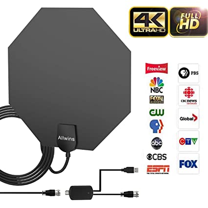 Amazon.com: TV Antenna Indoor, HDTV Antenna Amplified HD Digital TV on