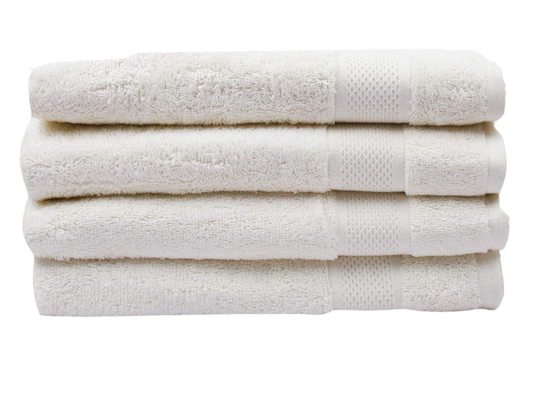 Divine Large Bath Towel set 100% Cotton Premium Luxury Hotel Quality, Spa Turkish Towels Super Soft, Plush,Ultra Absorbency & Quick dry Eco-Friendly (30 x 54 inch) Bath Towel - Set of 4 (vanilla)