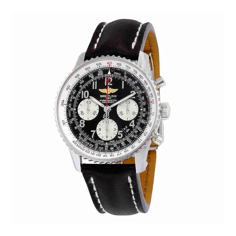 ブライトリングNavtimer 01ブラックダイヤルクロノグラフ自動メンズ時計ab012012-bb02bkld B007N8NGS0