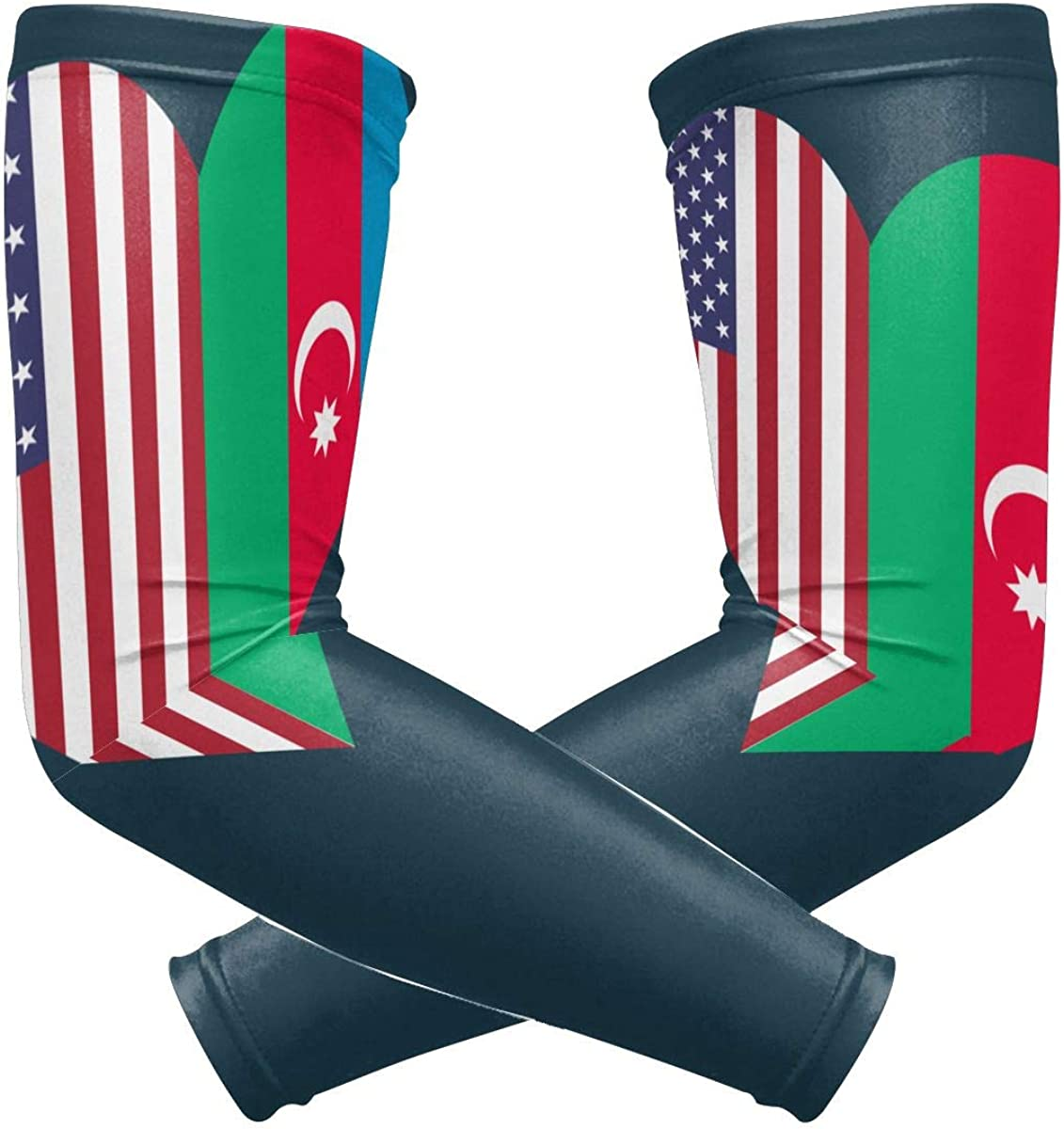Azerbaijan Flag Usa Flag...