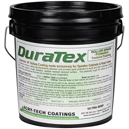 Acry-Tech DuraTex Ultra Deep Tint Base 1 Gallon Roller Grade Speaker Cabinet Coating (Cabinet Speaker Covering)