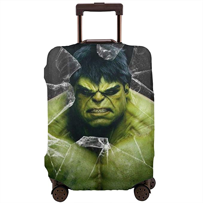 Zhongji Luggage Cover Trolley Case Protective Cover Santa Claus with a balloon.Santa Claus Protective Washable Suitcase Cover Suitcase Protector