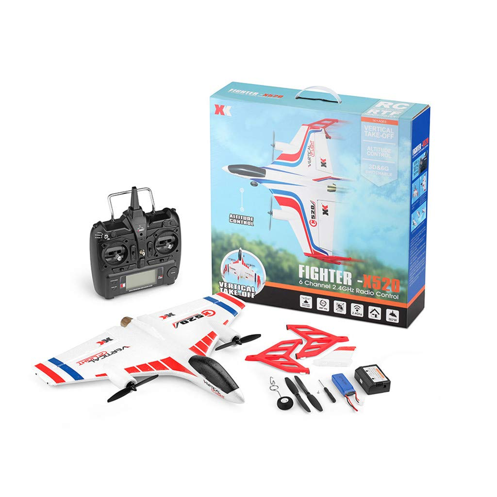 ALLWORLD Remote Control Airplane, 2.4G 6CH 3D/6G Airplane Vertical Takeoff Land Delta Wing with Outdoor Multiple Stunt Mode it Easy to Make a Stunt Action Best Birthday (White) by ALLWORLD
