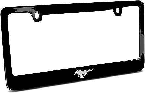 Ford Mustang Pony 3d Chrome Emblem Real Black Carbon Fiber License Plate Frame
