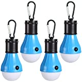 LED Camping Light [2 Pack or 4 Pack] Doukey Portable LED Tent Lantern 4 Modes for Backpacking Camping Hiking Fishing Emergency Light Battery Powered Lamp for Outdoor and Indoor