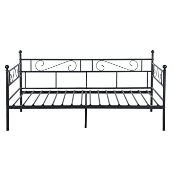Aingoo Full Metal Single Day Bed Frame Guest Sofa Bed Daybeds For