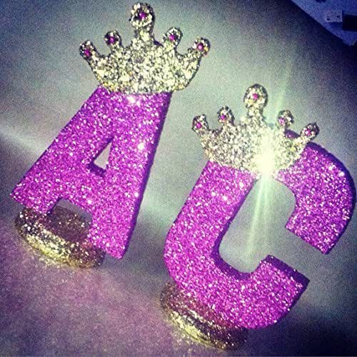 Royal themed centerpieces for baby shower for Glitter numbers for centerpieces