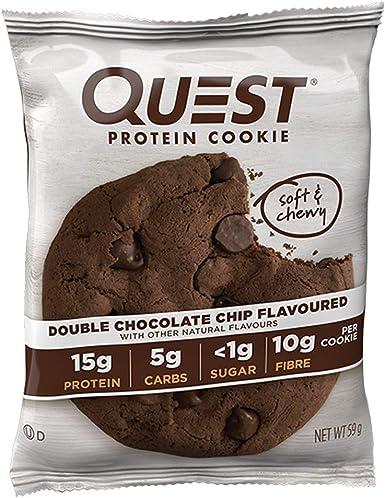Galleta Proteica con Doble Chocolate Quest Nutrition 59 g: Amazon ...