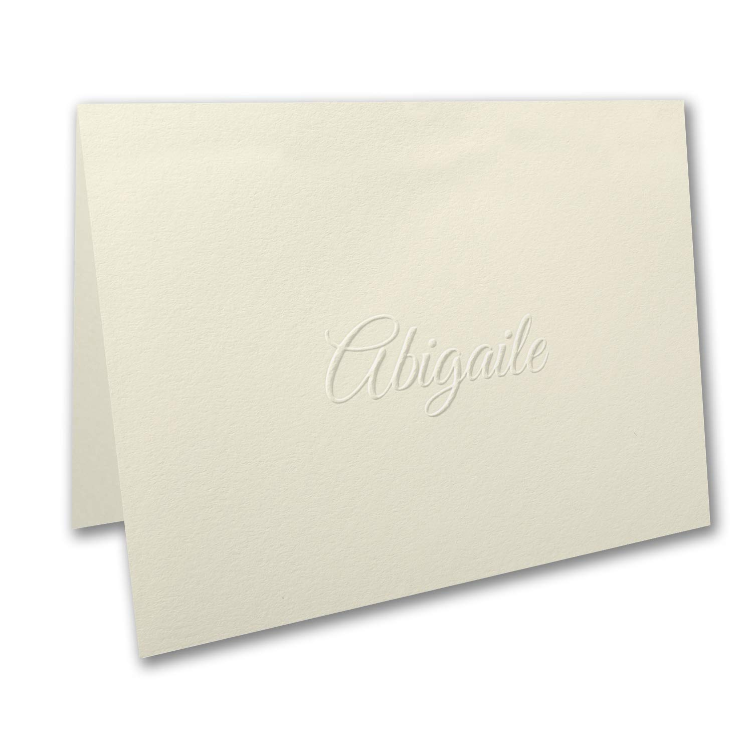 250pk Simply Perfect - Large Note Folder - Embossed - Ecru-Personal Stationery