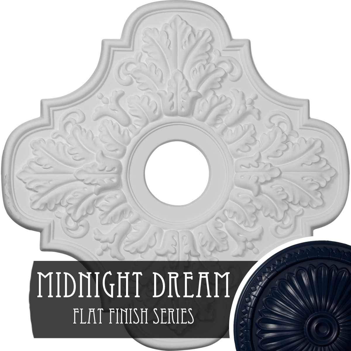 Ekena Millwork CM17PEMDF Peralta Ceiling Medallion, Midnight Dream