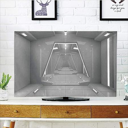 iprint - Funda para televisor LCD, decoración de Espacio Exterior, Paisaje satelital, Cosmos Espacial, diseño de Universo extendido, Gris, diseño de impresión 3D Compatible con TV de 32 Pulgadas: Amazon.es: Hogar
